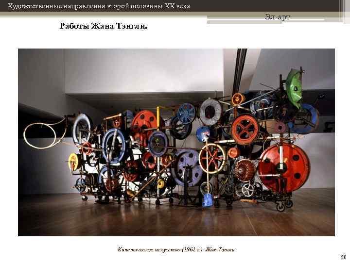 Художественные направления второй половины XX века Работы Жана Тэнгли. Эл-арт Кинетическое искусство (1961 г.