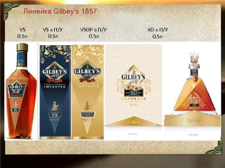 Линейка Gilbey's 1857 VS 0. 5 л VS в П/У 0. 5 л VSOP