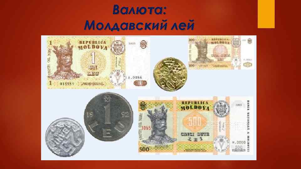 Валюта: Молдавский лей