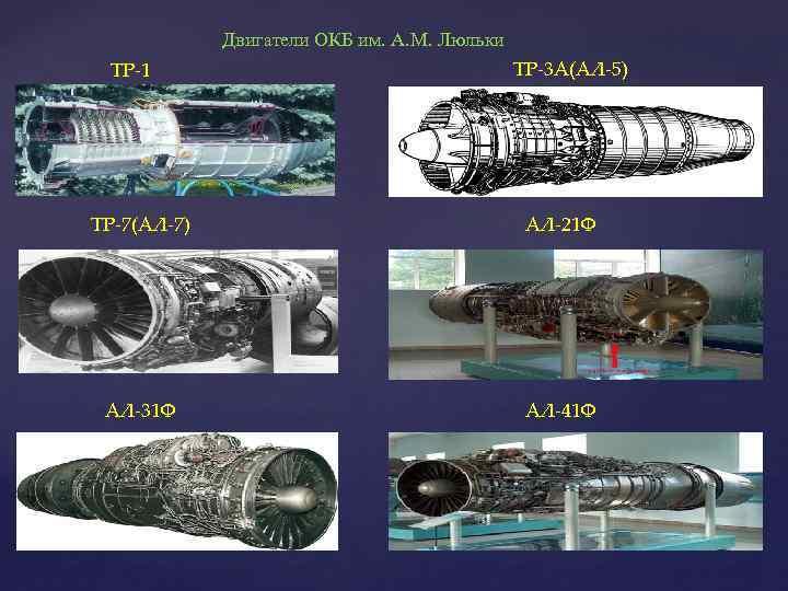 Двигатели ОКБ им. А. М. Люльки ТР-1 ТР-3 А(АЛ-5) ТР-7(АЛ-7) АЛ-21 Ф АЛ-31 Ф