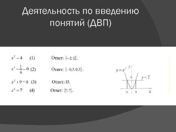 Деятельность по введению понятий (ДВП)