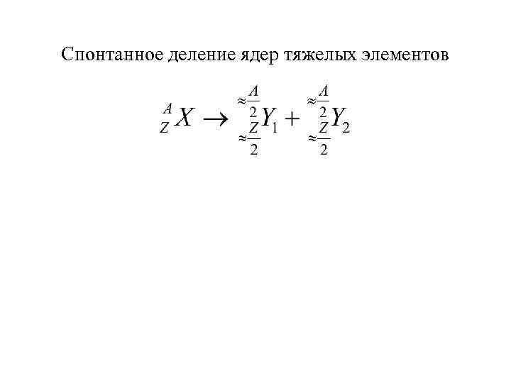 Спонтанное деление ядер тяжелых элементов