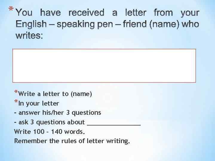 tips for writing letters Here are some useful tips for writing letters in ielts general training for you to get a better knowledge on how to structure your letter in this ielts general training writing task 1, you need to write a letter responding to a given situation, explaining the situation or requesting information.