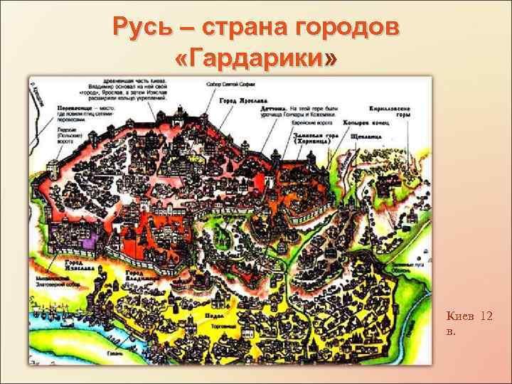 Русь – страна городов «Гардарики» Киев 12 в.