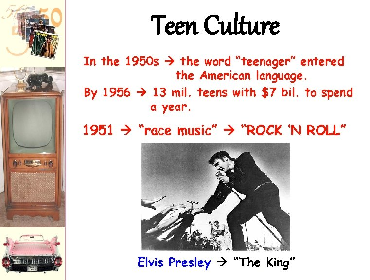 """Teen Culture In the 1950 s the word """"teenager"""" entered the American language. By"""