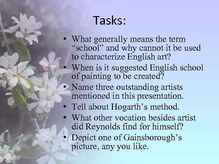 """Tasks: • What generally means the term """"school"""" and why cannot it be used"""