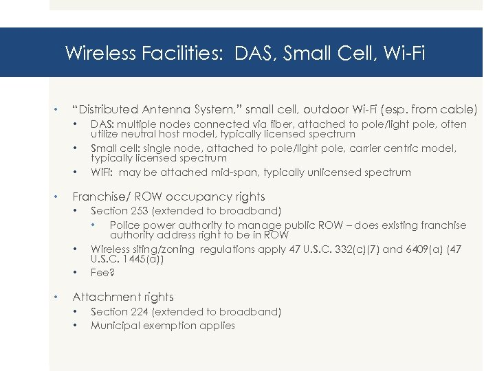 """Wireless Facilities: DAS, Small Cell, Wi-Fi • """"Distributed Antenna System, """" small cell, outdoor"""