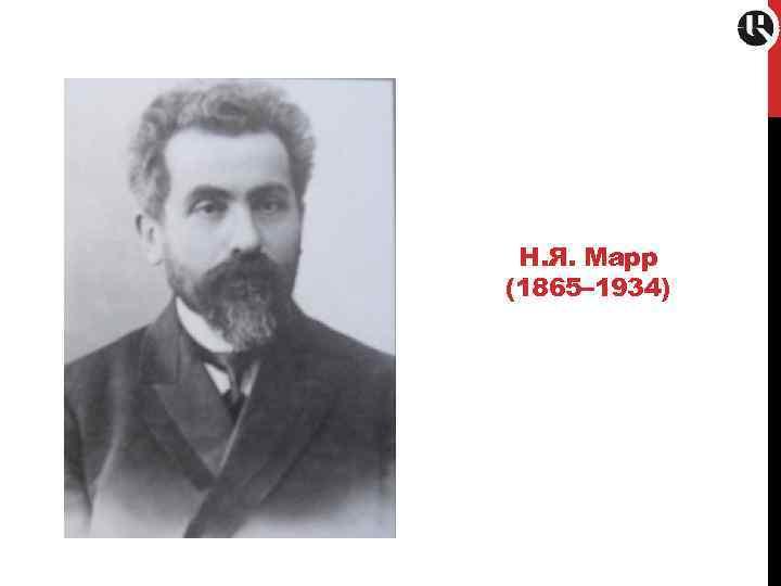 Н. Я. Марр (1865– 1934)