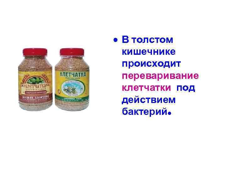 • В толстом кишечнике происходит переваривание клетчатки под действием бактерий.