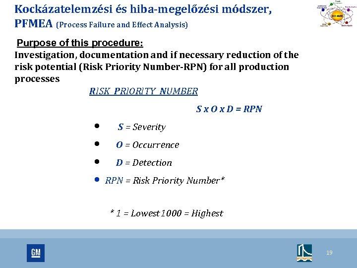Kockázatelemzési és hiba-megelőzési módszer, PFMEA (Process Failure and Effect Analysis) Purpose of this procedure: