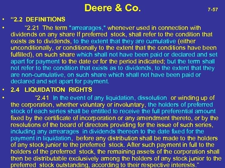 "Deere & Co. 7 -57 • "" 2. 2 DEFINITIONS • "" 2."