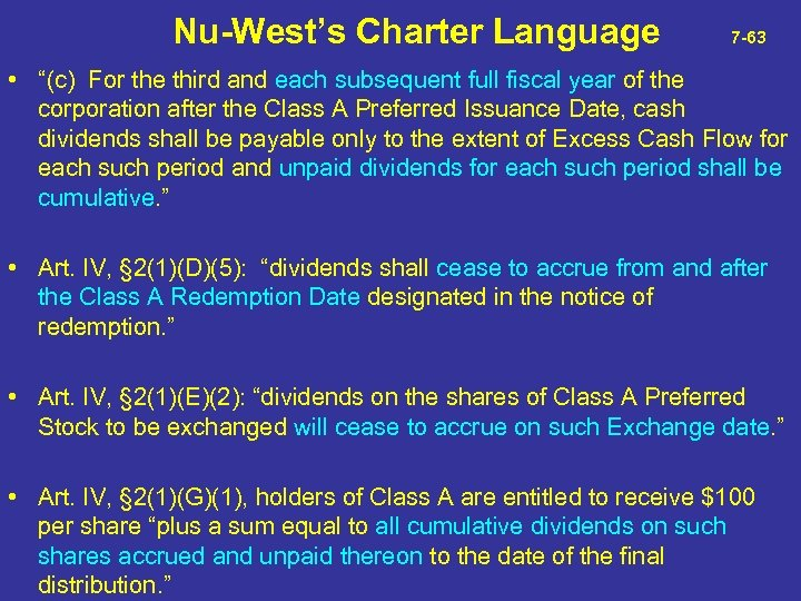 """Nu-West's Charter Language 7 -63 • """"(c) For the third and each subsequent"""
