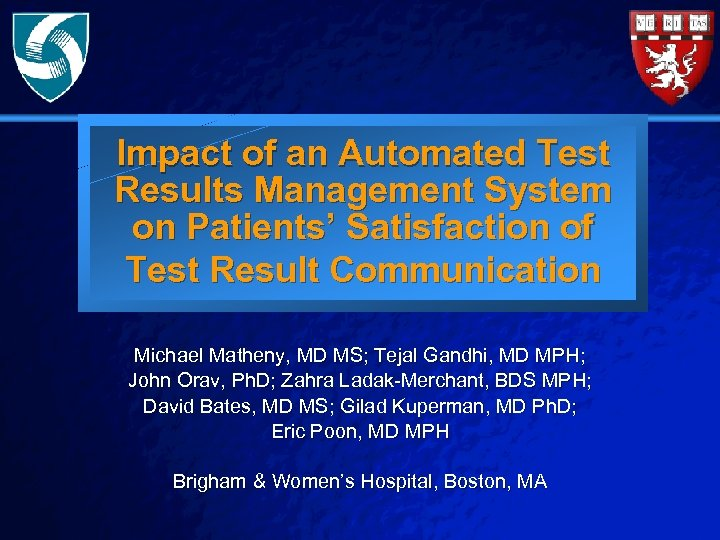 Slide 1 © 2003 By Default! Impact of an Automated Test Results Management System