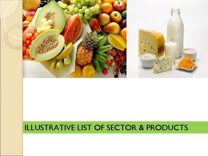 ILLUSTRATIVE LIST OF SECTOR & PRODUCTS