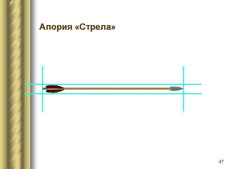 Парадоксы Зенона Апория «Стрела» 47