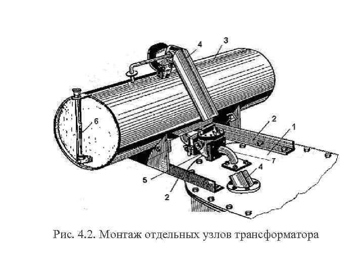 Рис. 4. 2. Монтаж отдельных узлов трансформатора