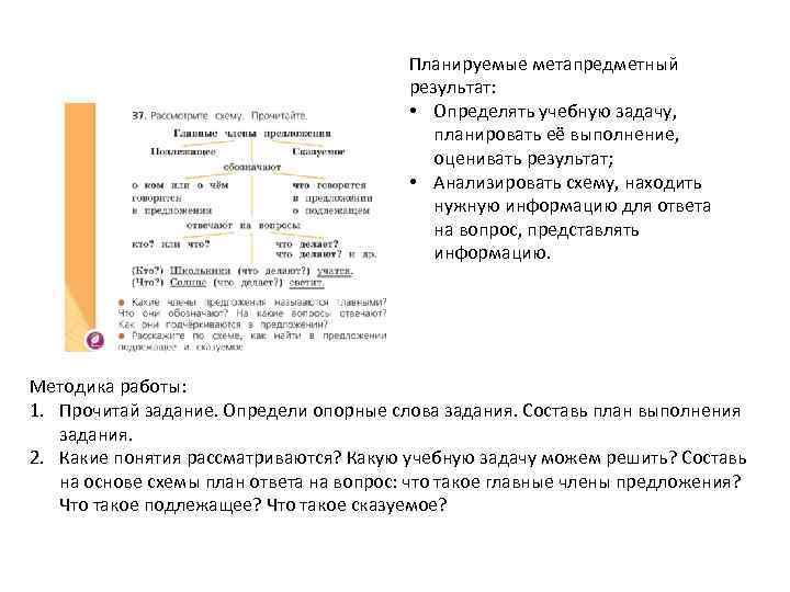 Планируемые метапредметный результат: • Определять учебную задачу, планировать её выполнение, оценивать результат; • Анализировать