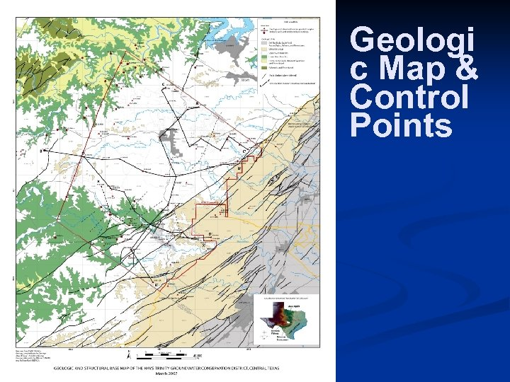 Geologi c Map & Control Points