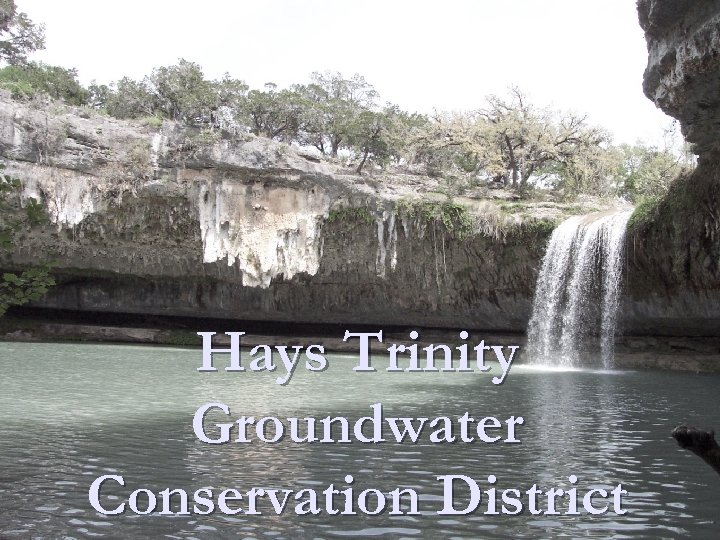 Hays Trinity Groundwater Conservation District