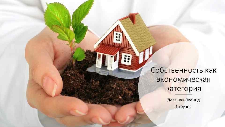 Собственность как экономическая категория Левашов Леонид 1 группа