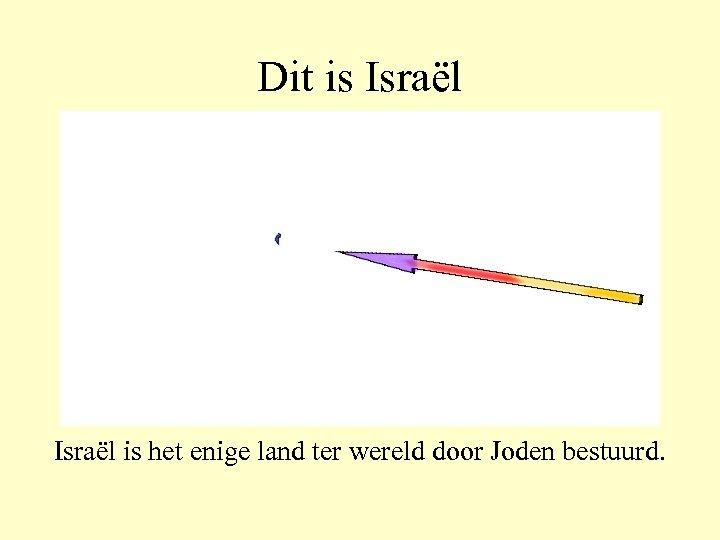 Dit is Israël is het enige land ter wereld door Joden bestuurd.