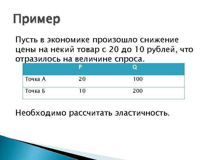 Пример Пусть в экономике произошло снижение цены на некий товар с 20 до 10