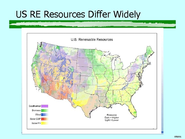 US RE Resources Differ Widely 081001
