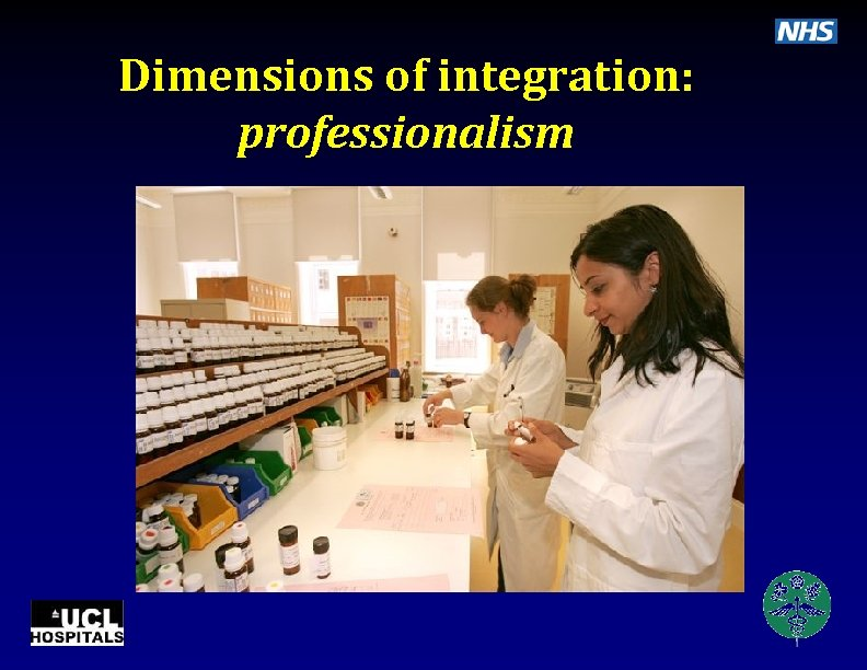 Dimensions of integration: professionalism