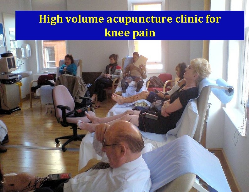 High volume acupuncture clinic for knee pain