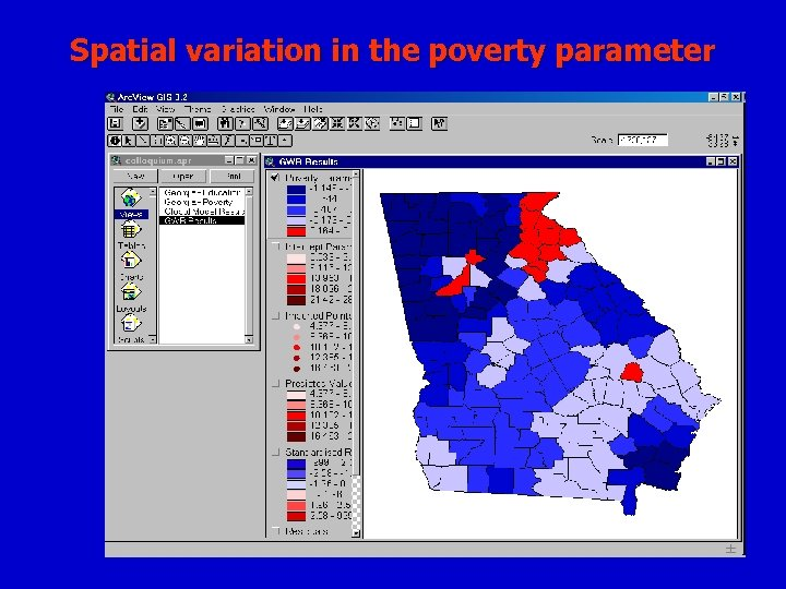 Spatial variation in the poverty parameter