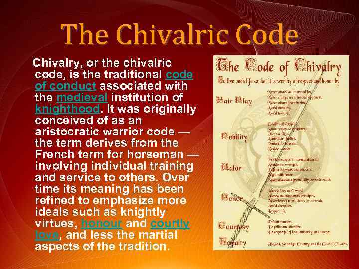 the manifestations of chivalry in the past and present society essay It is found in all societies, past and present all the preliterate societies known to us have religion religion goes back to the beginning of the culture itself as religion interprets misfortune and suffering in this world as manifestations of the supernatural order itself, it sanctifies the existing social structure.