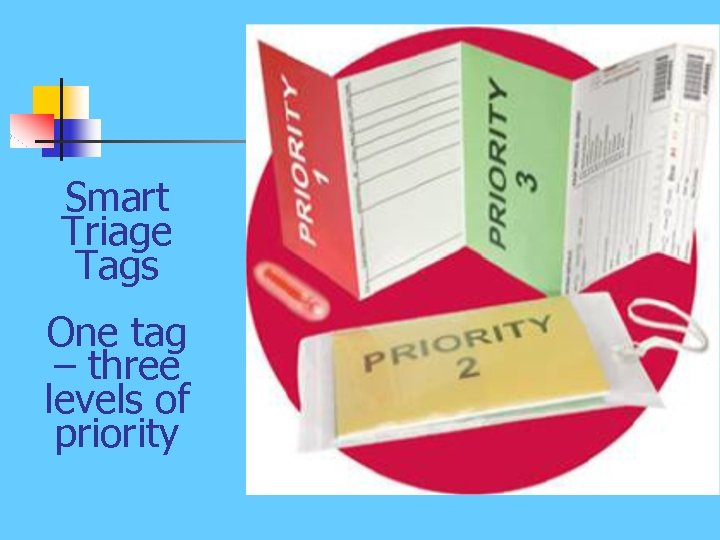 Smart Triage Tags One tag – three levels of priority