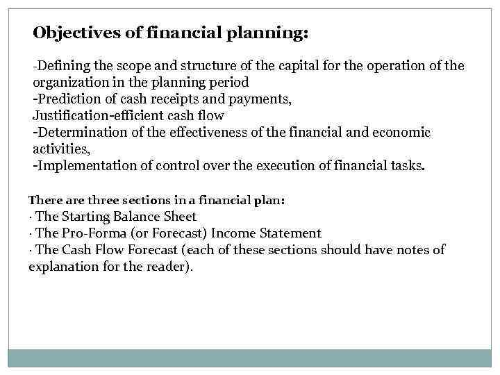 Features of financial planning in a market economy
