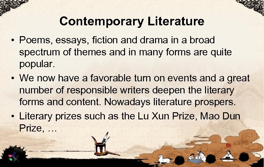 Contemporary Literature • Poems, essays, fiction and drama in a broad spectrum of themes