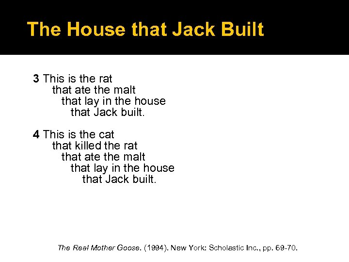 The House that Jack Built 3 This is the rat that ate the malt