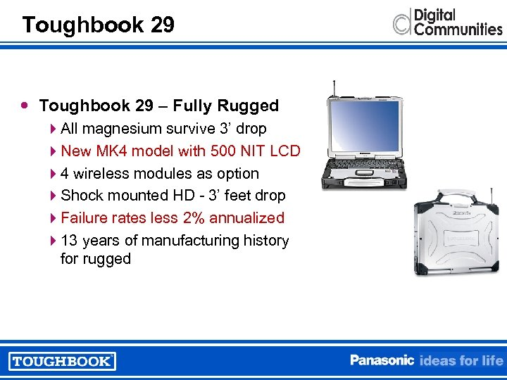 Toughbook 29 – Fully Rugged 4 All magnesium survive 3' drop 4 New MK