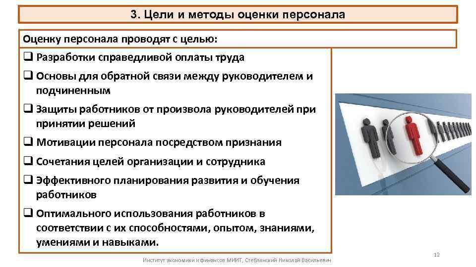 Знакомство с персоналом и оценка персонала