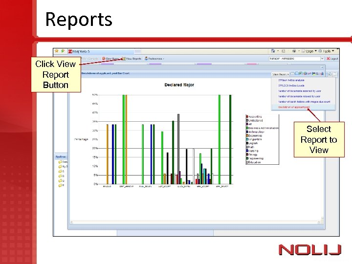 Reports Click View Report Button Select Report to View