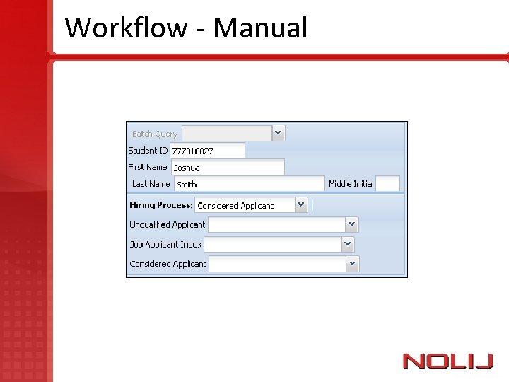 Workflow - Manual