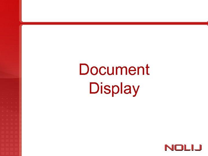 Document Display