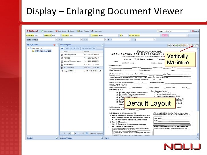 Display – Enlarging Document Viewer Vertically Maximize Default Layout