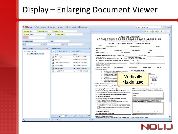 Display – Enlarging Document Viewer Vertically Maximized