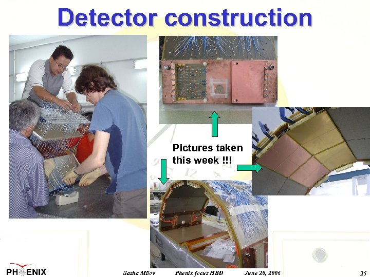 Detector construction Pictures taken this week !!! Sasha Milov Phenix focus HBD June 20,
