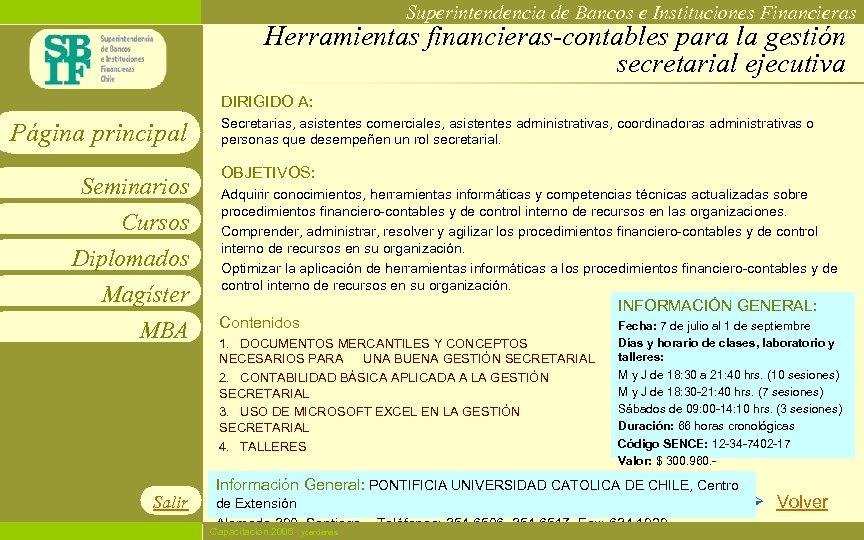 Superintendencia de Bancos e Instituciones Financieras Herramientas financieras-contables para la gestión secretarial ejecutiva DIRIGIDO