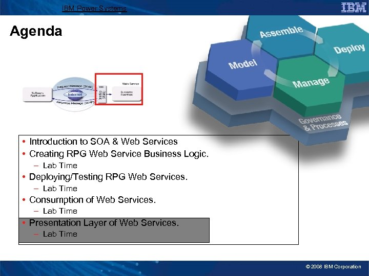 IBM Power Systems Agenda • Introduction to SOA & Web Services • Creating RPG
