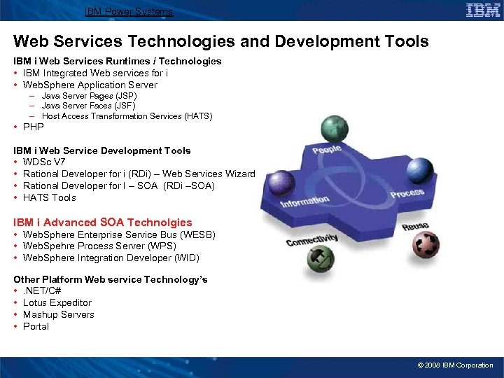 IBM Power Systems Web Services Technologies and Development Tools IBM i Web Services Runtimes