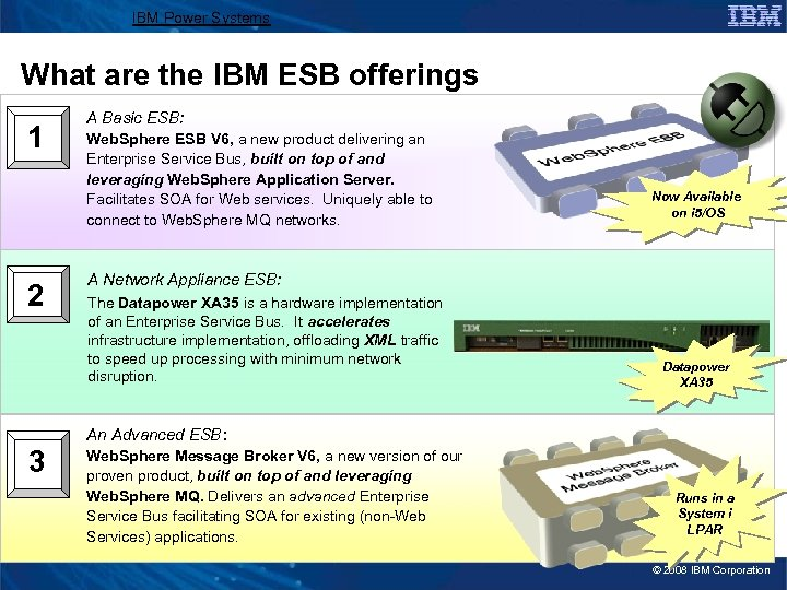 IBM Power Systems What are the IBM ESB offerings 1 2 A Basic ESB: