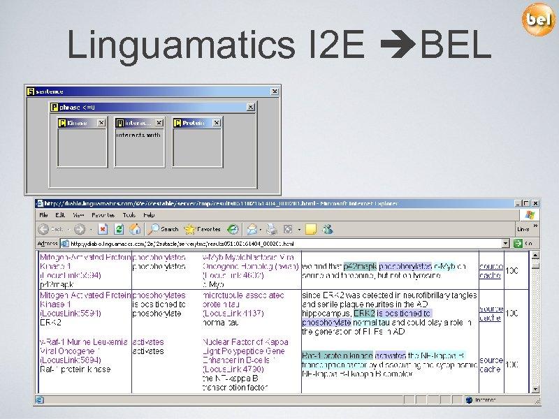 Linguamatics I 2 E BEL