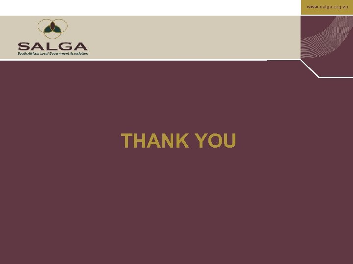 www. salga. org. za THANK YOU