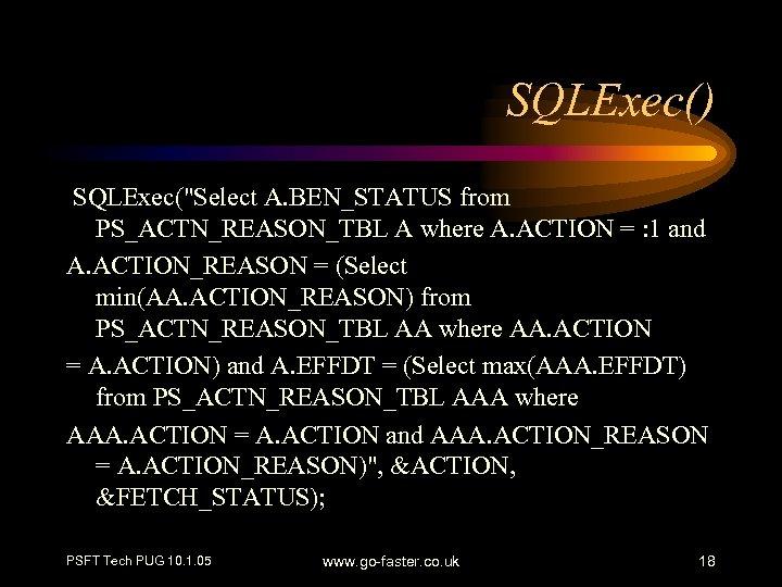 SQLExec() SQLExec(